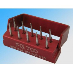 1Box ​​Dental SBT FG700 1,6 mm Cross-cut Taper Tungsten Carbide Stalen Boren / Boren
