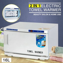 2in1 UV-Sterilisator Gezicht Warme Handdoek Warmer Kabinet Spa Salon Schoonheid Apparatuur