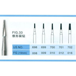 100PCS FG 1.6mm tandconus spleetcarbide boren